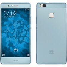 360º Silikon Hülle Blau Huawei P9 Lite Schutz Case Cover Tasche Vorne & Hinten