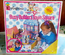 Minnie N Me Busy Builders Town Square Colorforms Playset 100 pcs Nib Sealed