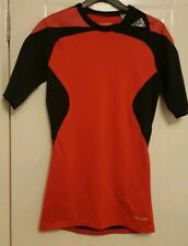 Adidas Techfit Compression Shirt Top Red sml climacool football running