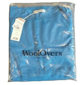 woolovers womens viscose cotton pleat back jumper pullover new tags blue size m