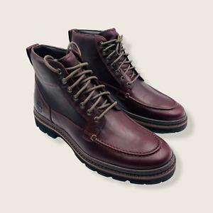 Timberland Port Union Waterproof Moc Toe Burgundy Boot A28ZZ, Men's Size 8
