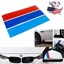 "1 Set 10"" M-Colored Stripe Fit BMW Exterior or Interior Decoration Sticker"