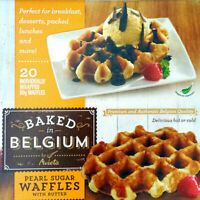 Pearl Pure Sugar Butter Waffles Box by Avieta 20x90g Belgium Baked Pack of 1.8kg