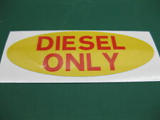 1 OVALE Diesel Carburante Solo Sticker in giallo con Testo Rosso