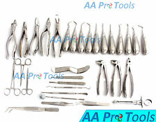 30 Pcs Oral Dental Extraction Surgery Extracting Elevators Forceps Instruments