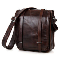 Mens genuine leather shoulder messenger bag Satchel Handbag Business tablet Bags