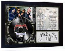 Metallica - Nothing Else Matters SIGNED Autographed FRAMED PRINT & Mini LP