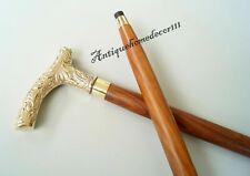 Designer Brass Derby Handle Antique Style Victorian Wooden Walking Stick Cane