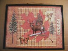"""country primitive DEER buck cabin lodge cottage rustic decor wood sign 13x17"""""""