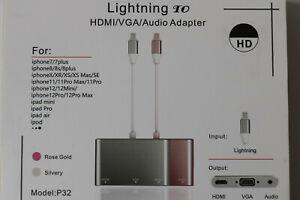 Lightning Adapter zu HDMI / VGA / Audio unbenutzt für iphone ab 7