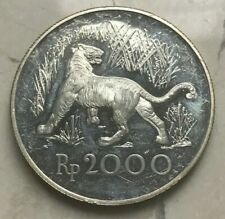 1974 Indonesia 2000 Rupiah Silver Proof - Impaired