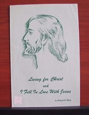 Living for Christ and I Fell In Love With Jesus - 1952 sheet music Gospel