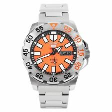 Seiko Automatic 5 Sports Orange Monster Mens Watch SRP483K1