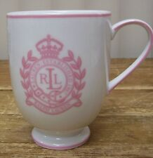 Ralph Lauren Polo Pink Footed Pedestal Coffee Mug Cup