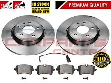FOR AUDI A7 3.0 TDI 2010- PREMIUM REAR BRAKE DISCS PADS SET KIT 300mm