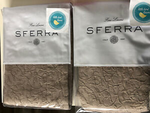 Set /2 SFERRA ADELLI Standard Shams FOG 21 x 26 New Pristine Italy Fine Linens