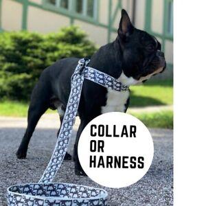 """Designer"" Dog Harness Collar Leads Luxury fashion XS S M L XL"