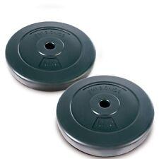 Set 2 Dischi Pesi Piastre per Bilanciere Rivestiti in Plastica Foro 28mm 2x10kg