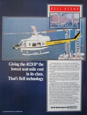 3/1992 PUB BELL HELICOPTER TEXTRON HELICOPTERE BELL 412HP PHI OFFSHORE OIL AD