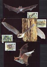 s3743) BULGARIA 1989  WWF, bats 4v MAXICARDS