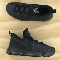 Nike Zoom KD9 GS Triple Black Anthracite Basketball Shoes 855908 001 Size 6Y