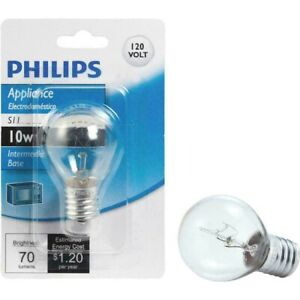 Philips S11 10W Intermediate Base Incandescent Appliance Light Bulb LOT OF 3