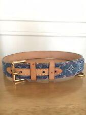 (authentic) Louis Vuitton blue denim belt unisex