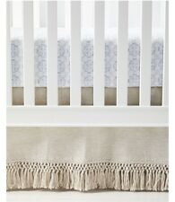 NWT $118   Serena & Lily Macrame Crib Skirt   Flax
