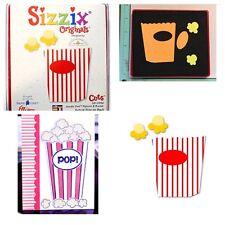 Sizzix Die Popcorn & Bucket Scrapbook RARE Diecut Movie Party Card-making NEW