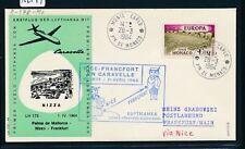 12599) LH FF Nizza France - Frankfurt 1.4.64, SoU ab Monaco EF 1F CEPT