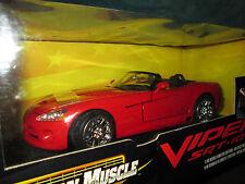 dodge VIPER srt 10 RED 1/18 american muscle ERTL  2003 convertiblle top down