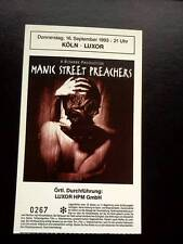 Manic Street Preachers ticket Koln Luxor 16/09/93 Richey Edwards
