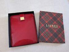 Ralph Lauren Gillespi Red Tablet/Ipad/eBook Sleeve+Gift Box - NWT $78