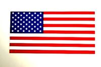 "AMERICAN FLAG US 50 STAR FLAG Vinyl Decal Bumper Sticker LARGE 3.75"" x 7.5"""