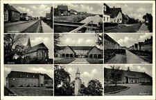 SANDE in Oldenburg alte AK ~1940/50 Kanal Dorfstrasse Kirche Bahnhof Schule uvm.