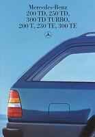 1539MB Mercedes T-Modell Prospekt 1985 10/85 W124 250 300 TD Turbo T 230 300 TE