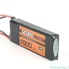 VOK Lipo Battery for RC Helicopter Airplane Drone 7.4V 1500mAh 2S 25C T-Plug YJ