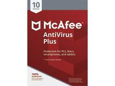 McAfee Antivirus 2018 Plus for 10 PCs + Malwarebytes Software