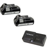 HITACHI BSL1815S 2 Pack 18V Li-Ion Batteries & UC18YKSL 18 Volt Battery Charger