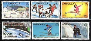 1980 Anguilla SC# 375-380 - 13th Winter Olympic Games, Lake Placid NY - M-NH