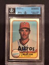 Nolan Ryan Astros Auto Signed 1981 Fleer Card #57 ~ JSA Authentic Slab
