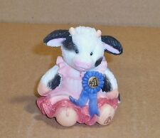 """Mary's Moo Moos, """"Cream Of The Crop"""", Cowgirl With Blue Ribbon Figurine, 1993"""