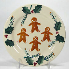 """Noble Excellence GINGERBREAD 8"""" Dessert Salad Plate Hartstone Pottery Christmas"""