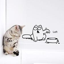 1 sábana Divertido Gato NEED Comida Adhesivo Pared Cocina Mascota Papel Pintado