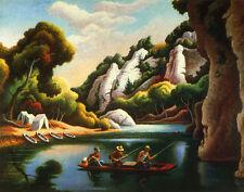 Benton Hart Thomas Jon Boat Canvas 16 x 20  #4664