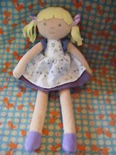 "Marks And Spencer blonde hair  rag  Doll soft Toy 13"" approx"