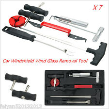 7pcs Windscreen Glass Removal Tool Car Van Windshield Kit Garage Hand Tool Kit