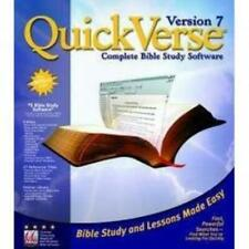 QuickVerse 7 Pc Cd biblical research & study collection Bible reference maps +