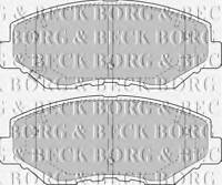 BORG & BECK BBP1860 BRAKE PAD SET FOR DISC BRAKE FRONT AXLE RC569008P OE QUALIT