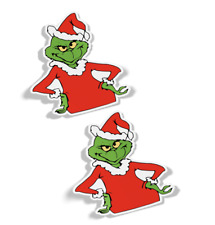 GRINCH CHRISTMAS STORY DECALS, STICKERS, (SET OF 2), QUALITY 3M